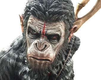 art,statue,sculpture,bust,hand crafts.diy,decor,painting,models,Gk,resin kits.costom,,dawn of the planet of the apes ,caesar