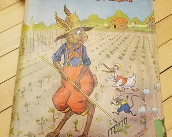 Hardcover Children's Book 1939 Uncle Wiggily on the Farm by Howard R. Garis Children's Literature