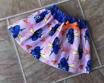 Finding Dory Skirt, Finding Dory, Finding Dory Birthday Outfit, Finding Dory Outfit, Finding Nemo, Dory Skirt, Nemo Skirt, Handmade