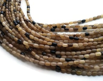60 Natural horn rice beads 5x7mm - eco friendly and natural horn beads (PN401C)