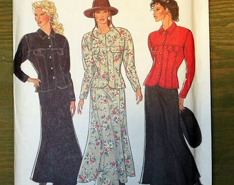 Style Fitted Jacket and Paneled Skirt Pattern #2364 - Size 8-18 - UNCUT Pattern - printed 1993