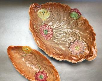 Shorter & Sons Trent Antique Art Deco Pair of Pottery Bowls