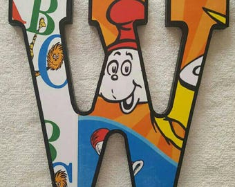 Dr. Suess Inspired Wood Letters