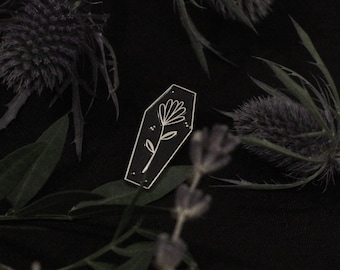 Coffin enamel pin / LIMITED EDITION