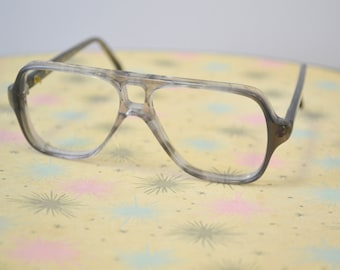 1970s NOS Kid's Gray Plastic Eyeglasses