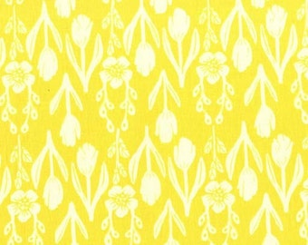 Fabric by the Yard - Sommer Tulip Folk in Sunshine by Sarah Jane for Michael Miller Fabrics