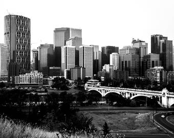 Calgary Contrast / Black and White Photography / Instant digital download / Canadian DIY wall art