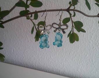 Earrings - sweet blue gummibears
