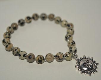 Dalmatian Jasper 6mm bracelet