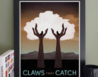 "Claws That Catch Gig Poster // O'Brien's, Allston, MA 13""x19"""