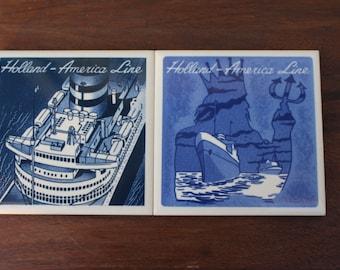 Holland-America Line Delftware Tile