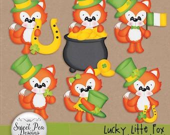 Lucky LIttle Fox Clipart