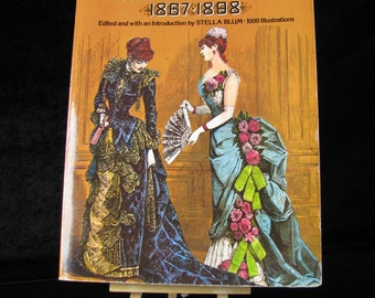 Harper's Bazar 1867-1898, Victorian Fashions, Fashion Evolution, late 1800s clothes, 19th Century Fashion, Vintage Fashions and Costumes