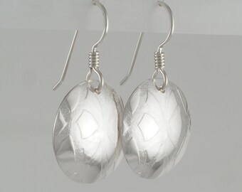 Hand Forged Sterling Silver Earrings 812
