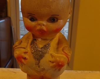 VINTAGE Chalkware Kewpie Baby 1940s Carnival Prize Fabulous