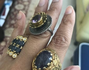 Flat 150- 350 for any ring, sapphire ring, onyx ring, solitaire ring, ruby ring, Kinite ring, amethyst ring, rosecut diamond ring