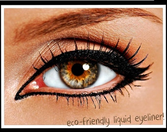 Non Toxic Liquid Mineral Eyeliner with Felt Tip Applicator in Very Black   Organic and Natural Eyeliner   Cruelty Free Makeup