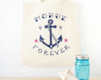 "Tote Bag ""Morue Forever"" 100% cotton"