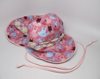 Sun hat for girl, pink sun hat, sun protection hat