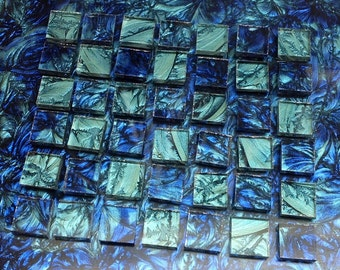 2 Color - Van Gogh Glass Mosaic Tiles - BLUE & BLUEGREEN  B11/23