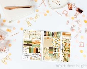 Give Thanks TN POCKET Weekly Kit // 100+ Matte Planner Stickers // Perfect for your Pocket/Personal Traveler's Notebook // TNP0860
