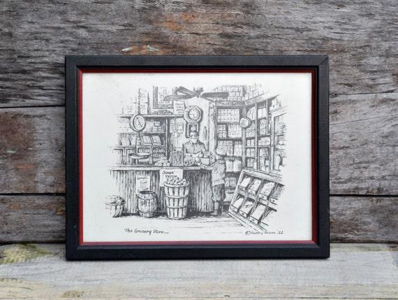 General Store Art Kitchen Art Americana Grocery Store