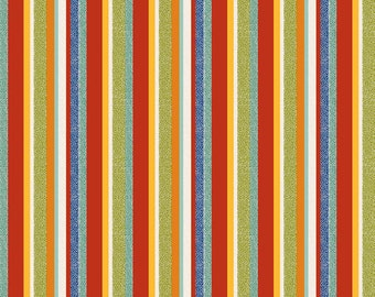Striped Quilt Fabric, Riley Blake C4123 Red, On Our Way, Red, Yellow, Green, Teal, Blue Striped Fabric, Boys Quilt Fabric, Cotton