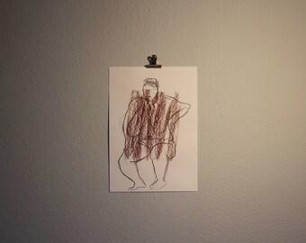 "Original Drawing ""Rundungen I"" / Nude Art / Pastel and graphit"