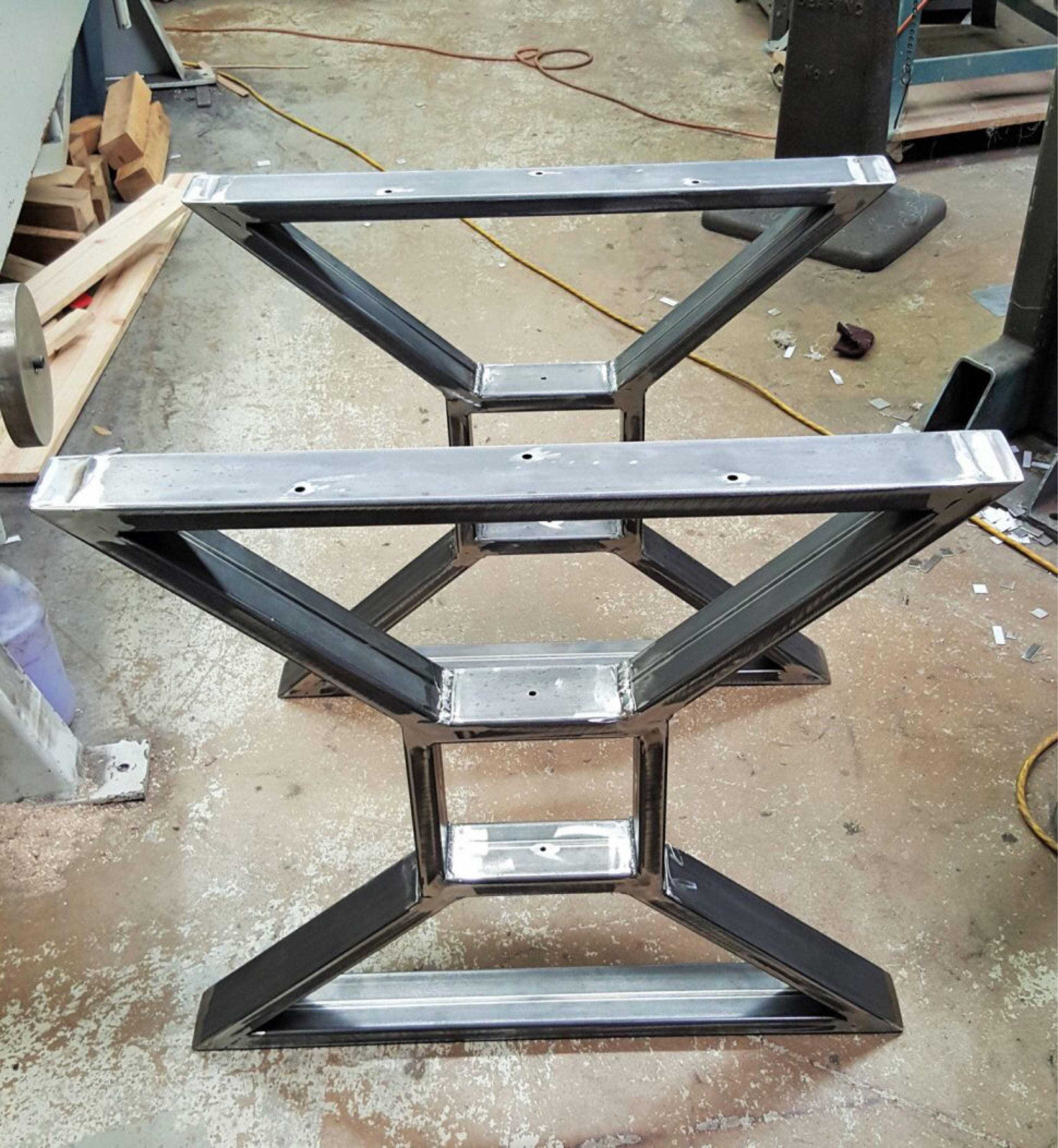 Set Of Two X Metal Table Legs Iron Table Legs 28 Steel
