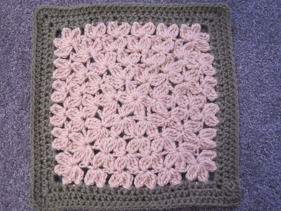 In Treble Crochet Pattern for 12 Afghan Square