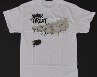 Brand New Old School Punk MINOR THREAT Out Of Step Shirt Size Small, Medium, Large, and XL Free Same Day Shipping With A Tracking Number
