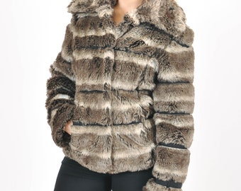 Vintage 80s faux fur jacket, coat