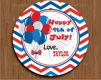 4th of July Labels, 4th of July Printables, 4th of July Favor Tags, Independence Day Tags, 4th of July Party Tags, 4th July Tags