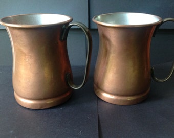 Vintage Copper Mugs Tagus Portugal Game of Thrones Mugs Rustic Copper