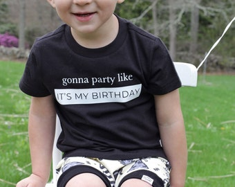 Party Like its My Birthday, Baby Graphic Tee, 90s Hip Hop Clothing, Funny Baby Clothes, Baby Boy Gift, Baby Boy Clothes, Birthday Tshirt