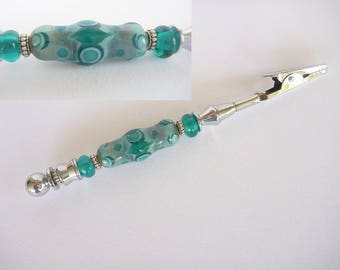 Bracelet Helper featuring Artisan lampwork Glass Beads.