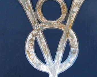 V8! - Stainless, Steel, & Patina - Large Wall Art