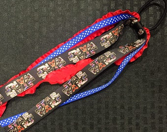 Star Wars Black Red and Blue Ponytail Ribbon Streamer
