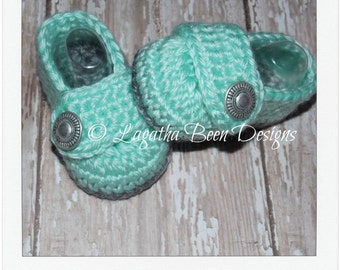 Baby girl booties pattern - Lydia baby booties - baby booties - baby loafers pattern - pdf instant download