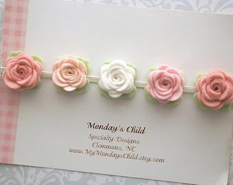 Felt Flower Crown, Baby Flower Crown, Felt Flower Headband, Baby Flower Headband, Baby Headband, Newborn Flower Crown, Toddler Headband