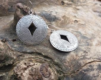 Sterling silver earrings. Modern, unique design