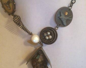 Necklace Mixed Media