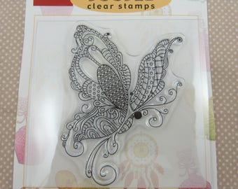 Clear stamp, butterfly