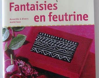 "Book ""Felt fantasies"" associated with various materials - Santa Claus patterns included"
