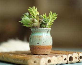 Miniature pottery - assorted mini planters and pots, artist's choice