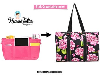 """Pink Organizing Tote Insert fits 16"""" Tote"""
