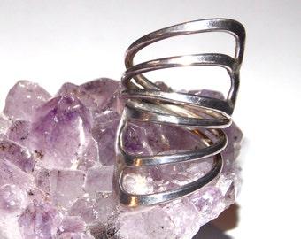 Silver Adjustable Wrap Ring