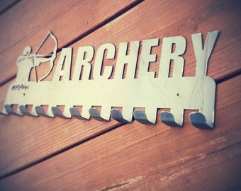 Archery medal display
