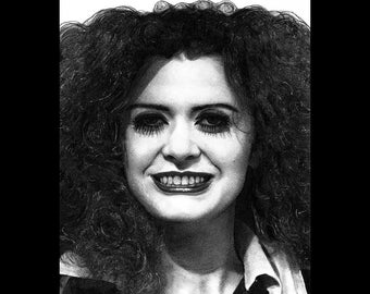 "Print 8x10"" - Magenta - Patricia Quinn Rocky Horror Picture Show Dr Frank N Furter Musical Drama Gothic Cult Tim Curry Pop Art Dark Horror"