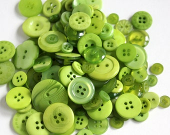 Green Apple Buttons - Bag of Buttons